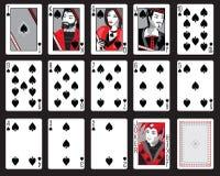 Pelles jouant des cartes Photos libres de droits