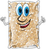 Pellet bag isolated. On white background Stock Photography