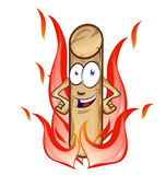 Pellet cartoon with flame isolated Royalty Free Stock Photo