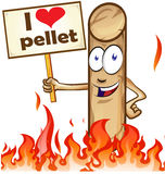 Pellet cartoon with signboard Stock Image