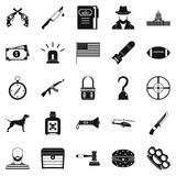 Pellet icons set, simple style Stock Images