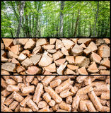 Pellet production Stock Photo