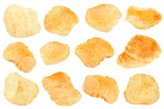 Pelleted potatoes snack collection Royalty Free Stock Image