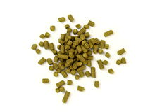 Pelletized Hops on White Background Royalty Free Stock Images