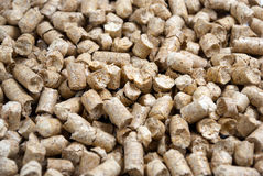 Pellets. Pressed sawdust pellets, an environmentally friendly product Stock Images