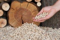 Pellets. Pine peletts - an Alternative Energy Stock Image