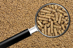 Pellets background. Close-up on animal food Stock Image