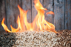 Pellets-Biomass Stock Images