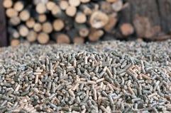 Pellets-biomassa Arkivfoton