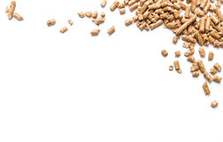 Pellets. Energy. Pellets on the table Royalty Free Stock Photography