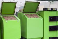 Pellets furnace Stock Images
