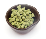 Pellets of hops Royalty Free Stock Images