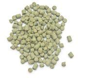 Pellets of hops. On white background Stock Image