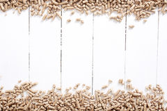 Pellets. Resource. Pellets on the table Stock Images