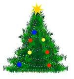 Pelliccia-albero di natale Fotografia Stock