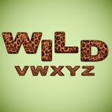 Pelliccia del leopardo di imitazione di alfabeto Fotografia Stock