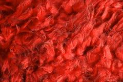 Pelliccia falsa rossa Fotografie Stock Libere da Diritti