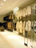 Pelliccia in negozio Immagini Stock