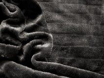 Pelliccia nera Immagini Stock Libere da Diritti