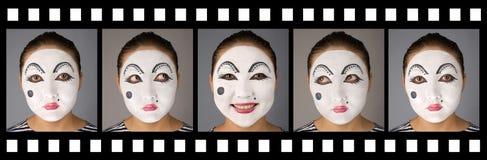 Pellicola con il mime impressionabile Fotografia Stock Libera da Diritti