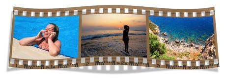 Pellicola con le viste del mare immagini stock