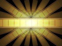 Pellicola del video del cinematografo Fotografie Stock