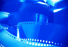 Pellicola di film blu Immagini Stock Libere da Diritti