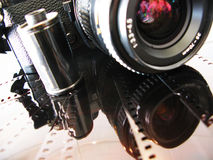 Pellicola e macchina fotografica Fotografie Stock