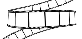 Pellicola isolata foto/di film Immagine Stock