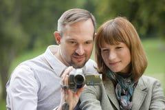 Pelliculage de couples Images libres de droits