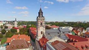 Pelliculage de Roman Catholic Cathedral Aerial banque de vidéos