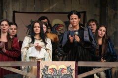 Pelliculage du nouveau film les chevaliers Photo stock