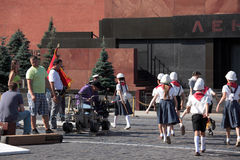 Pelliculage sur la place rouge à Moscou Photos libres de droits