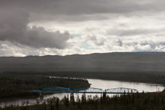 Pelly Crossing River bridge Yukon Territory Canada Stock Photos
