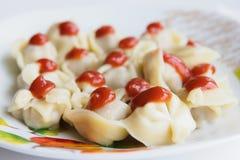 Pelmeni (вареники мяса) Стоковое Фото