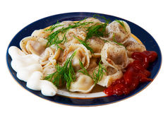 The pelmeni Royalty Free Stock Image