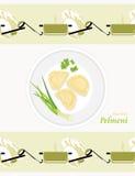 Pelmeni Flavored Teste padrão para envolver Foto de Stock Royalty Free