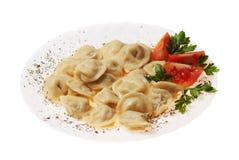 Pelmeni food Royalty Free Stock Images