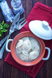 Pelmeni with meat Royalty Free Stock Images