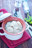 Pelmeni with meat Royalty Free Stock Image