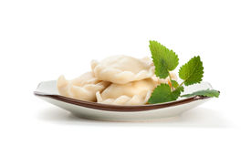 Pelmeni on a plate Royalty Free Stock Photography