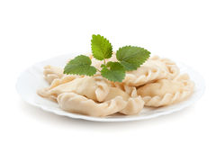 Pelmeni on a plate Royalty Free Stock Image