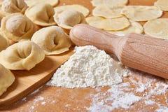 Pelmeni preparation Royalty Free Stock Image