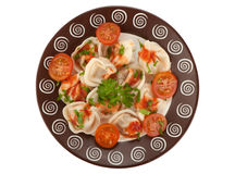 Pelmeni. Traditional Russian cuisine Royalty Free Stock Photo
