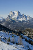 Pelmo dolomiti. Dolomite view from the top of passo cibiana Stock Image