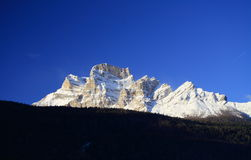Pelmo Mount Dolomite. View of the Pelmo Mount from the town of Borca di Cadore at the Dolomite Alps (Italy Stock Images