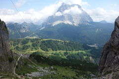 Pelmo Peak in Belluno Stock Images