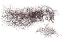 Pelo abstracto libre illustration