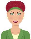 Pelo caucásico del rojo de la mujer de negocios Imagen de archivo libre de regalías