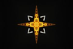 Pelo cruzado de la estrella del oro Foto de archivo